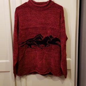 True Grit sweaters With horses.